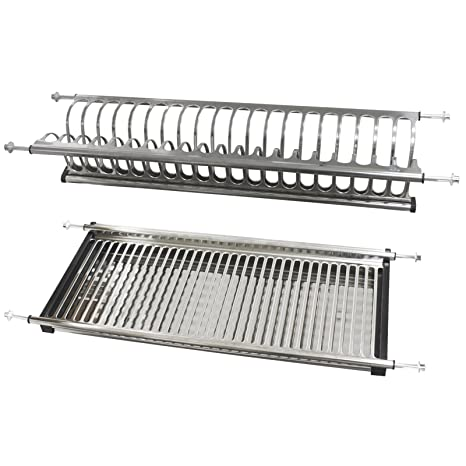 Probrico Stainless Steel Dish Drying Rack For The Cabinet (600mm)