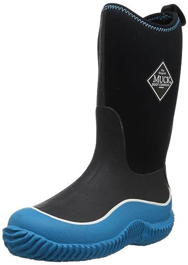 Muck Boots Unisex-Kinder Hale Gummistiefel, Schwarz (Blue/Black), 26