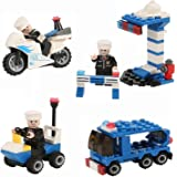 Educational Building Blocks,Newisland 358 Pieces City Police Building Set with 8 Mini Unit Police Bricks Toy Set