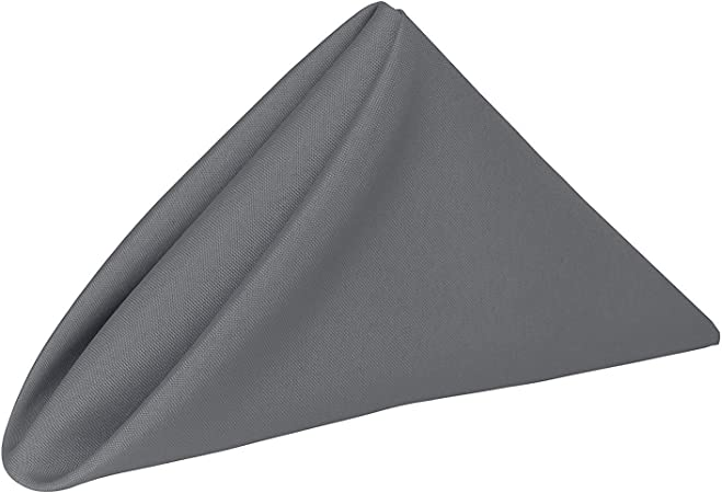 Amazon Com Cotton Napkins Pack Of 10 12 X 12 Inch Cloth Dinner Table Napkins Machine Washable Restaurant Wedding Hotel Quality And Regular Home Use 100 Cotton Fabric Dark Grey Home Kitchen