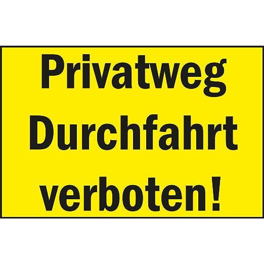 Cartel prohibición Privado vía - durchfahrt Prohibido ...