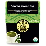 Organic Sencha Green Tea – 18 Bleach-Free Tea Bags – Energizing Tea with Caffeine, Natural Source of Antioxidants and L…