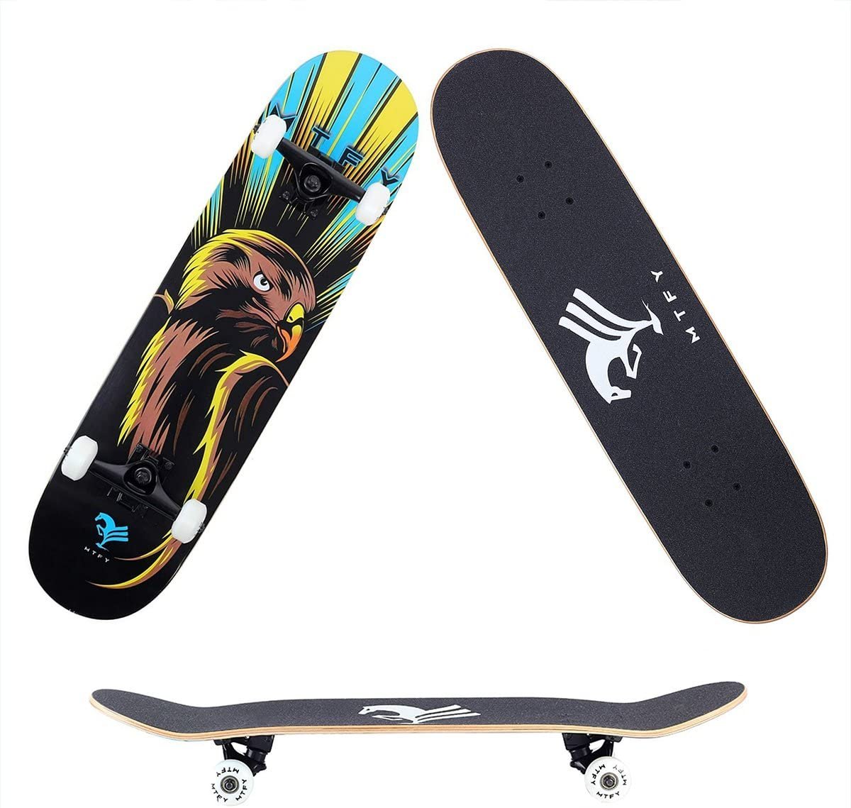 MTFY Skateboards Canadian Maple Wood 31 Pro Long Boards Skateboard Double Kick Concave Cruiser Skateboard