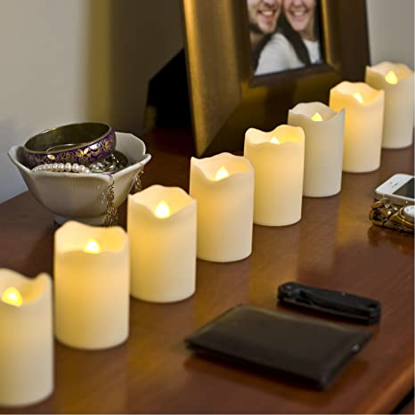 Amazon.com: Flameless LED Votive Candles, Color Changing & Warm ...