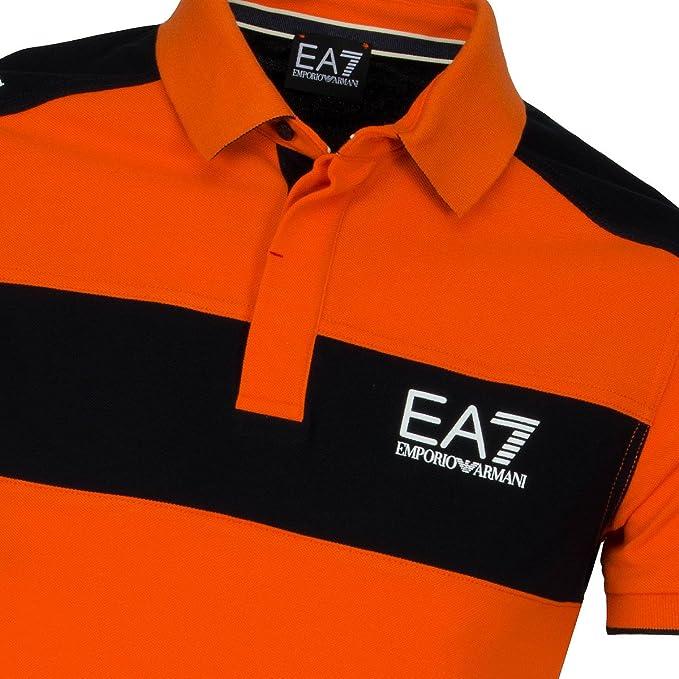 EA7 – Armani Sea – Polo Naranja algodón piqué Hombre Verano 2016 ...