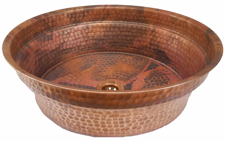 Egypt gift shops Handmade Copper Vessel Round Design Washbasin Bath Sink House Kitchen Renewal