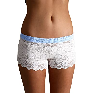 bed80beac3a7 Foxers Original Lace Boxer Brief Underwear for Women Sexy Sheer Lace ...