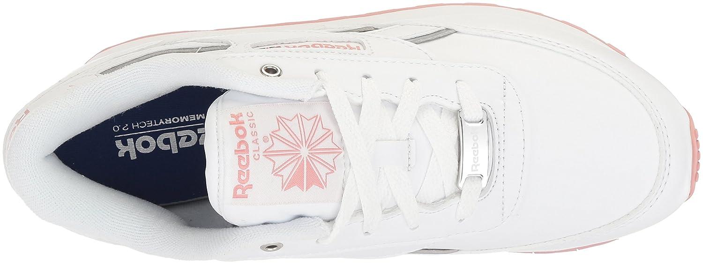 Reebok Women's Classic Renaissance Walking Shoe B078VR41Y3 7.5 B(M) US|White/Chalk Pink/Silver
