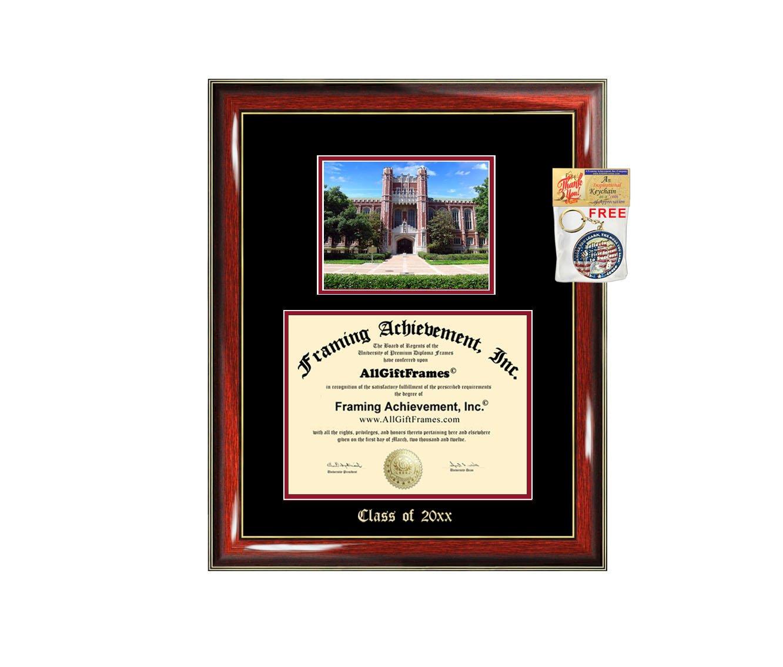 Amazon.de: AllGiftFrames Diplom Rahmen Big Universität von Oklahoma ...