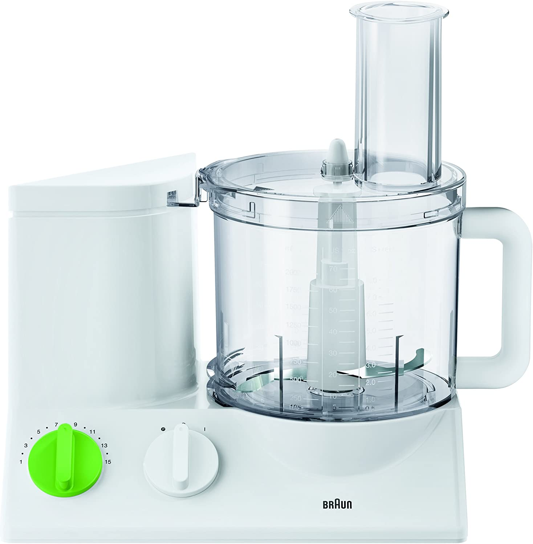 Braun FP 3010 - Robot de cocina (Verde, Color blanco, Vidrio, Acero inoxidable): Amazon.es: Hogar