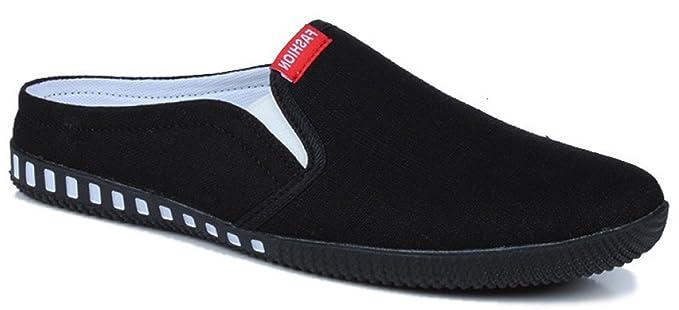 MYXUA Mocasines De Lona De Los Hombres Perezosos Zapatos De Paño Deslizadores Moda Casual Confort: Amazon.es: Ropa y accesorios