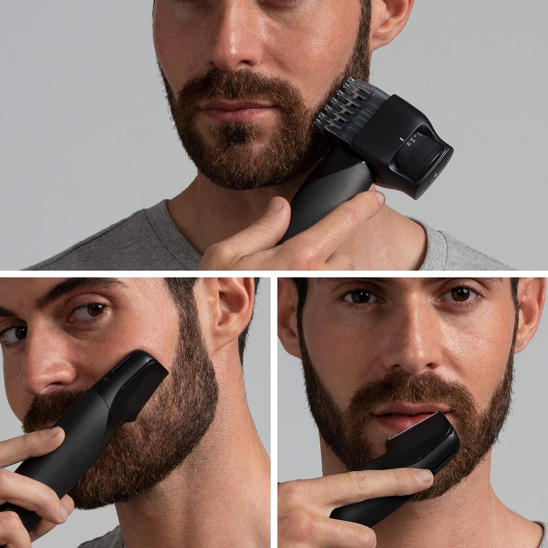Panasonic ER-GD51-K503 Recortadora de Barba Recargable para hombre, forma de Navaja, i-Shaper, acero Inoxidable, batería larga duración, lavable, 20 Longitudes de 0,1 ...