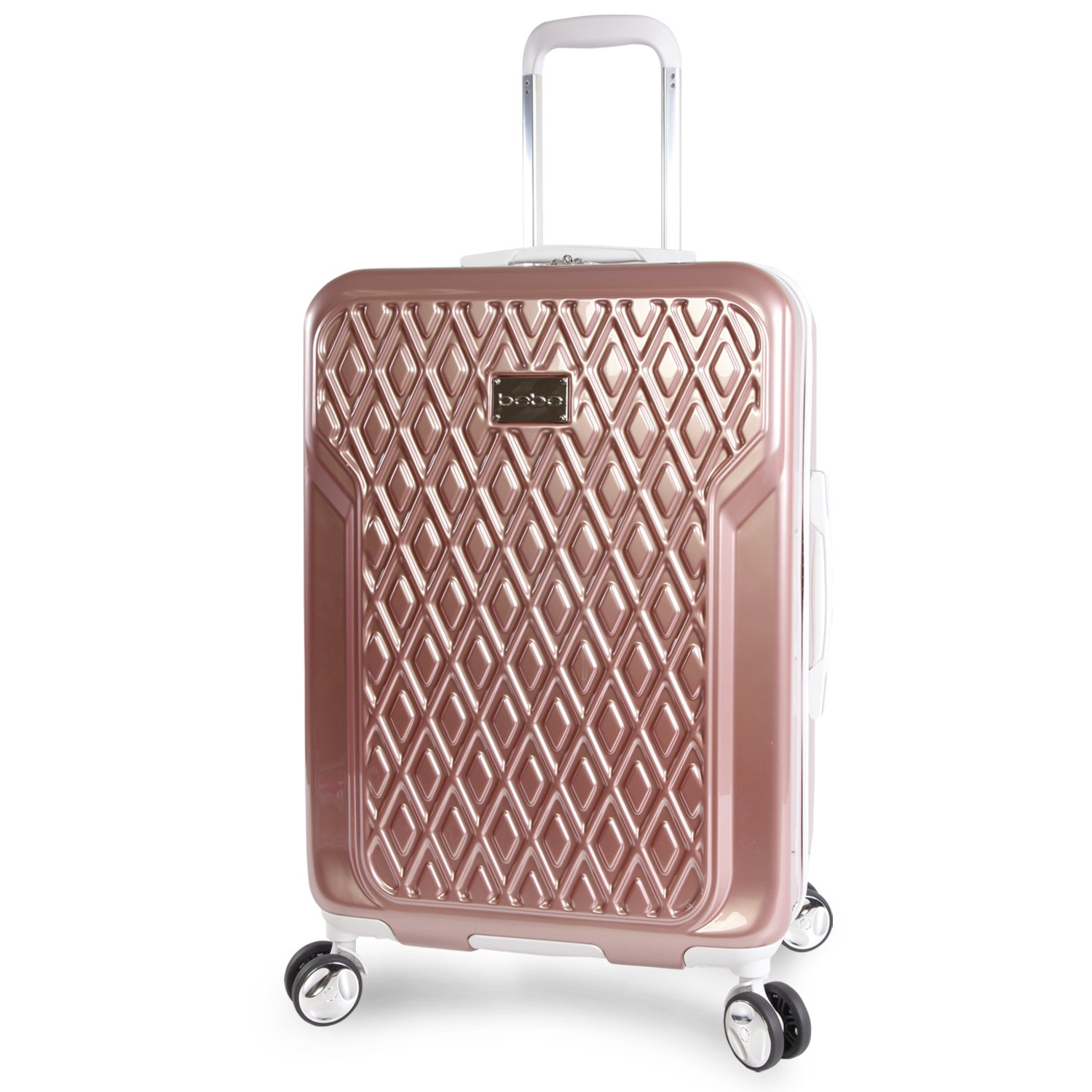 Bebe Women's Stella 21 Hardside Carry-on Spinner Luggage, Rose Gold BeBe Luggage BE-PC-7321
