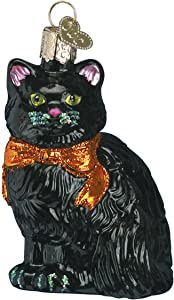 Old World Christmas Kitty Halloween Decorations Glass Blown Ornaments for Christmas Tree