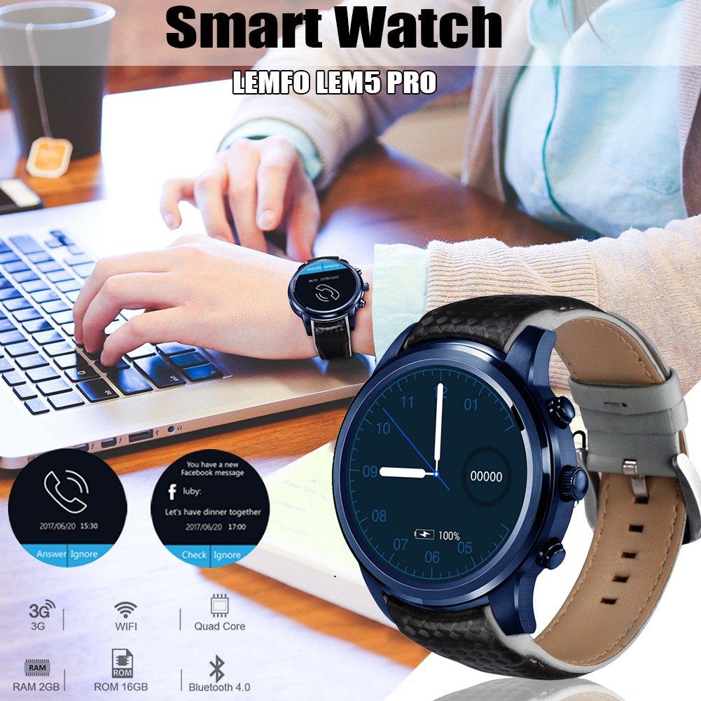 Pretty de Jin Smart Watch lemfo lem5 Pro Android 5.1 Smart Watch ...
