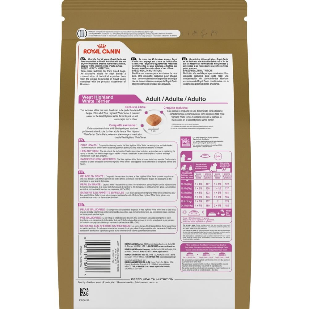 Royal Canin BREED HEALTH NUTRITION West Highland White Terrier Adult dry dog food, 10-Pound by Royal Canin (Image #2)