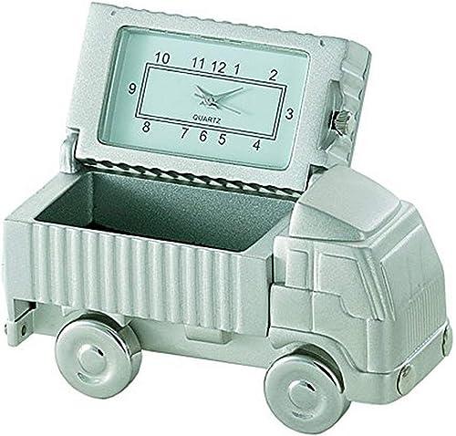 Sanis Enterprises Truck Clock, Mini, Silver
