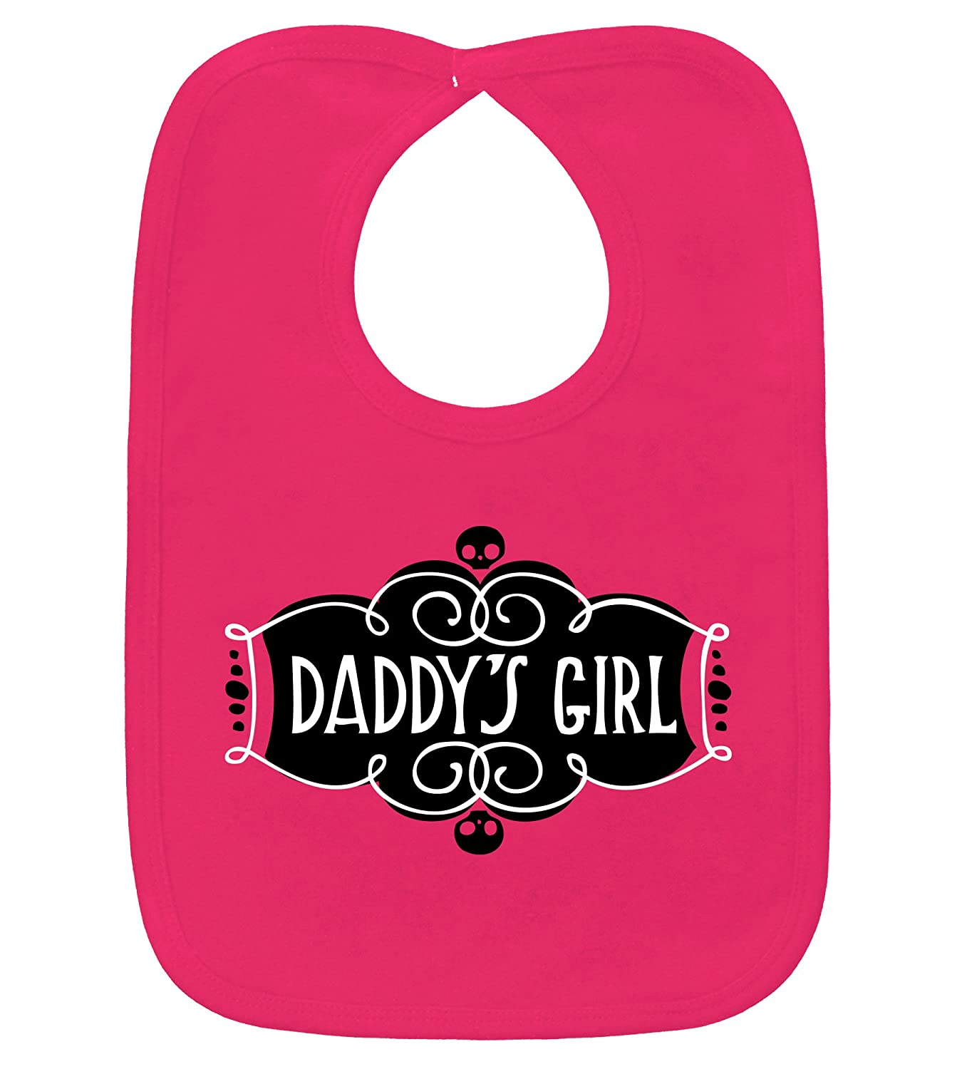 Daddy's Girl Hot Pink Bib 100% Cotton by My Baby Rocks D04-13310