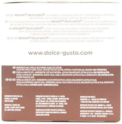 Nescafe Dolce Gusto for Nescafe Dolce Gusto Brewers, Chococino, 16 Count: Amazon.com: Grocery & Gourmet Food