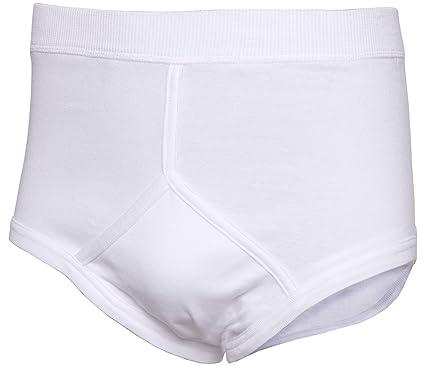 All Sizes White Blue 6 Mens Y Fronts 100/% Cotton Interlock Briefs Underwear