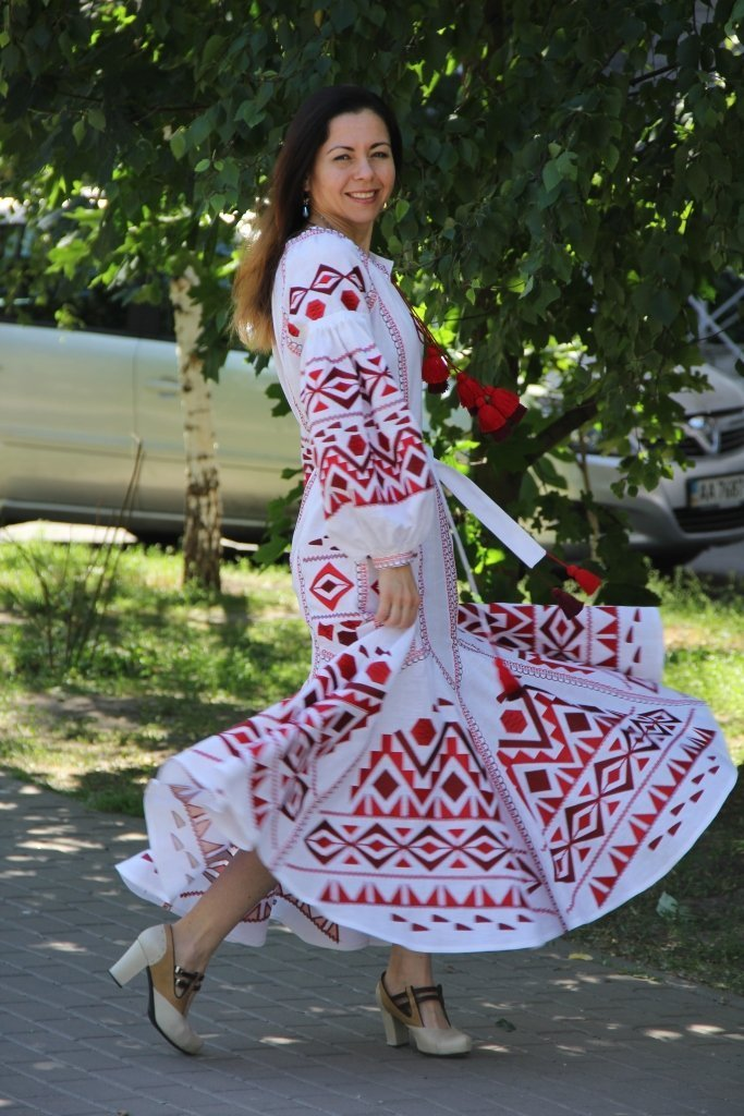 Embroidered Ukrainian dress in Boho style dress embroidered long women dress