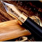 MONAGGIO Gorgeous Bamboo Fountain Pen made of Luxury Wood with Refillable Converter