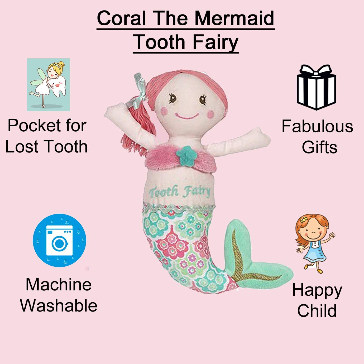 Maison Chic Coral the Mermaid Purse