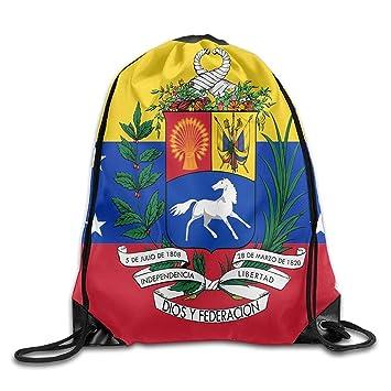 Daisylove Bandera de Venezuela Personalizada Gimnasio con cordón Bolsas de Viaje Mochila Tote Mochila Escolar: Amazon.es: Deportes y aire libre