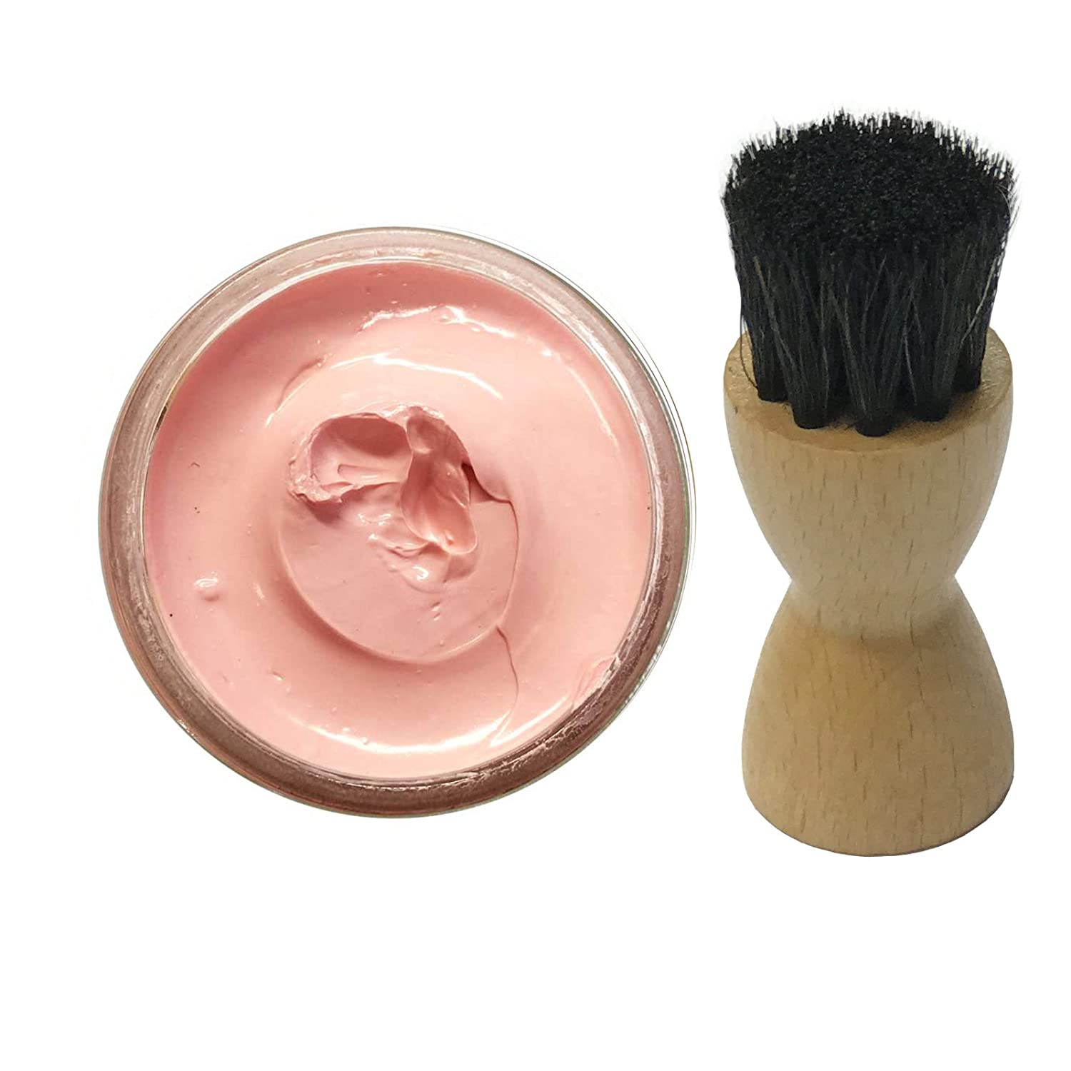 Famaco PINK ROSE DRAGEE Shoe Cream Polish 50ml & Famaco Application Brush