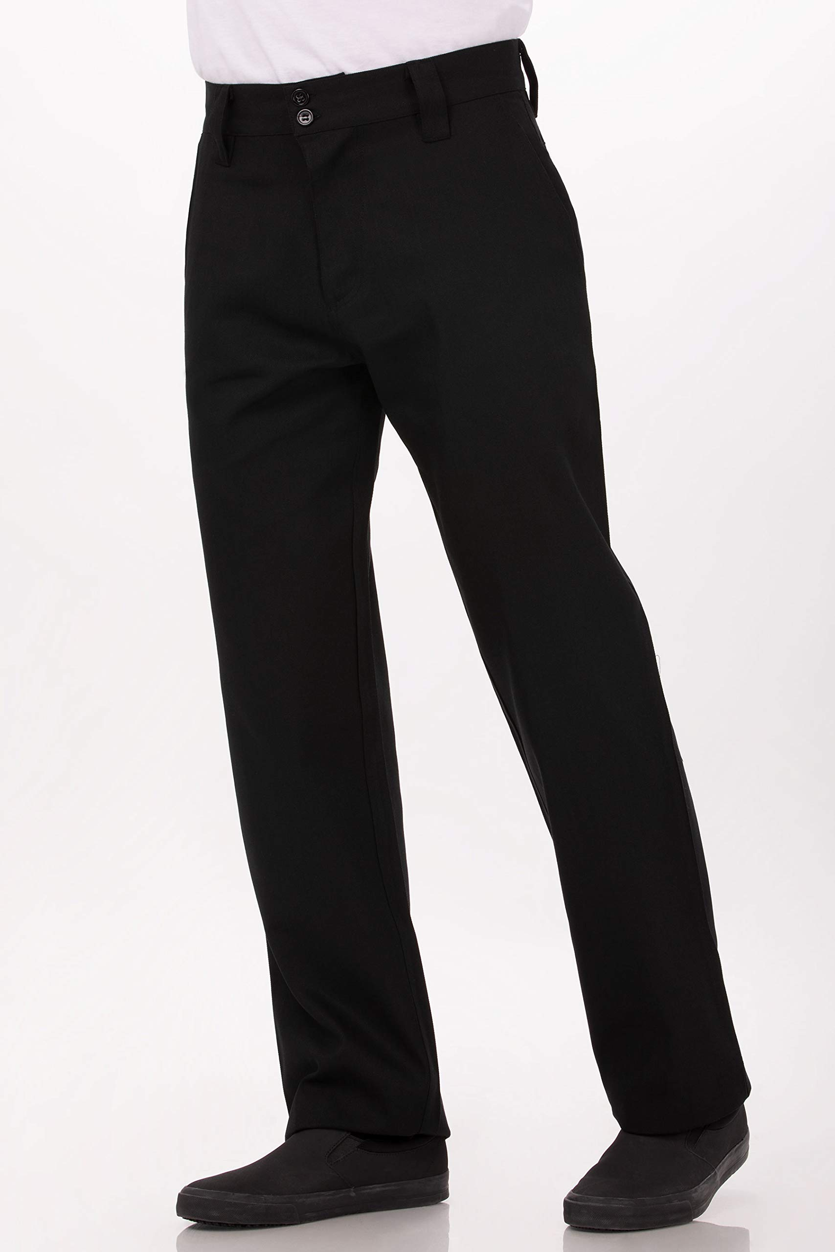 Chef Works Men's Essential Pro Chef Pants, Black, 36 by Chef Works