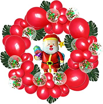 Air ou hélium ballon Santa Bonhomme De Neige Feuille Latex Noël Noël Hélium Ballons