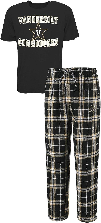 Concepts Sport Vanderbilt Commodores NCAA Great Duo Mens T-Shirt /& Flannel Pajama Sleep Set