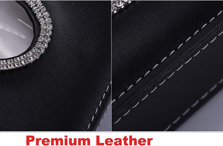 4 pcs in 1 Set U/&M Bling Bling Auto Seat Belt Cover /& Handbrake Cover /& Shift Gear Knob Cushion Luster Crystal Diamond Car Decor Accessories