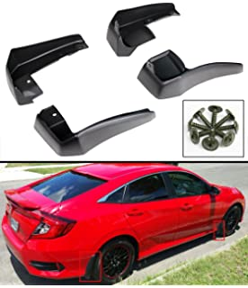 Cuztom Tuning for 2016-2018 10TH GEN Honda Civic 4DR Sedan Front & Rear MUD