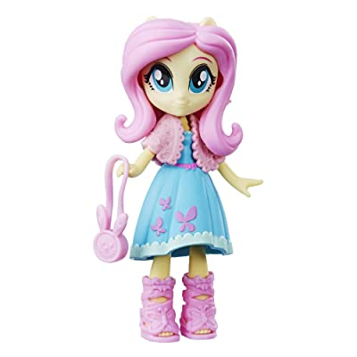 "My Little Pony Equestria Girls Fashion Squad Fluttershy 3"" Mini Doll with Removable Outfit, Shoes & Accessory, for Kids 5 & Up: Toys & Games"