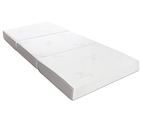Milliard: colchón Plegable de Tres Partes, 15 cm de Profundidad, para huéspedes con