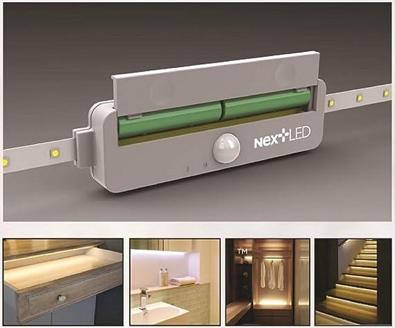 Nextled Motion Sensor Led Strip Light 48 Led Bulbs Stick On