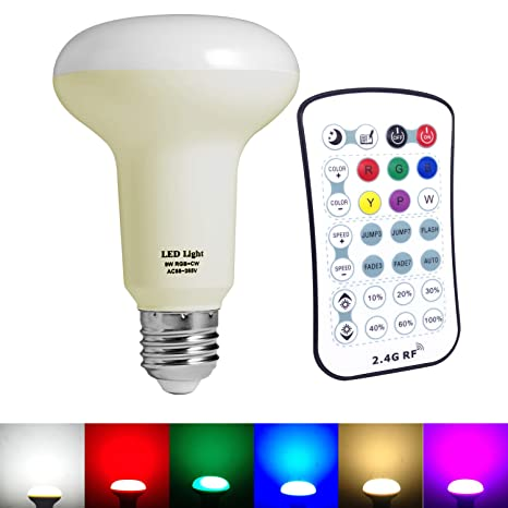 ekostore RGB + W cambian de color regulable 9 W e27 bombillas led con 6 colores