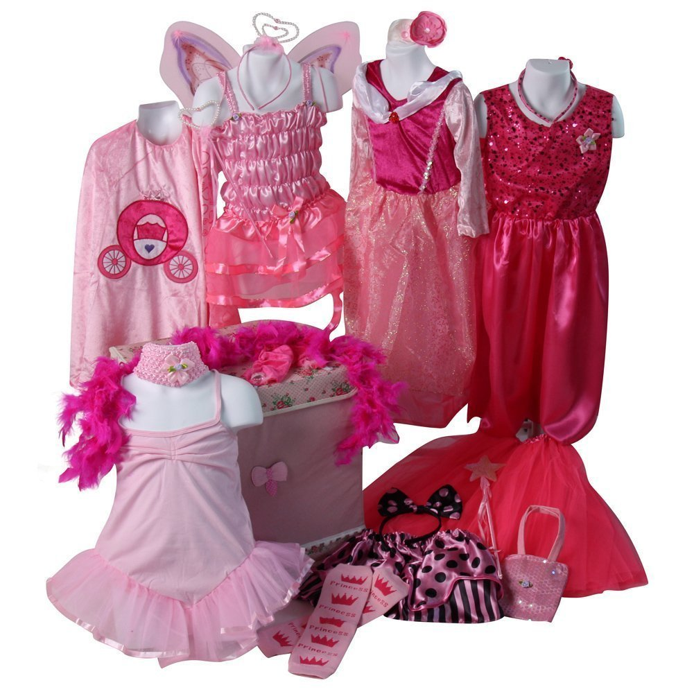 802b3f77c6f75 FUN FOR GIFT GIVING - Girls pretty pink princess dress up trunk is the  perfect holiday or birthday gift for your little princess!