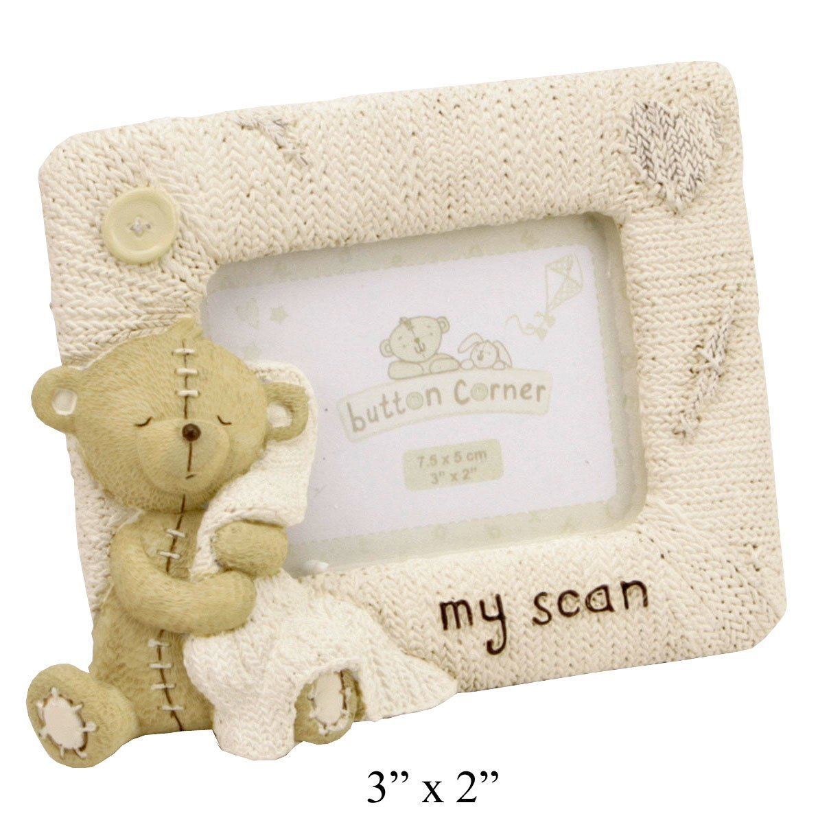 Oaktree Gifts My Scan Button Corner Resin Photo Frame 3 x 2 WB-CG1371