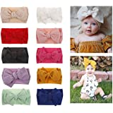 Baby Girl Bow Headbands Newborn Hairband Baby Turban Knotted Headband Nylon Elastic Headwraps for Children Hair Accessories