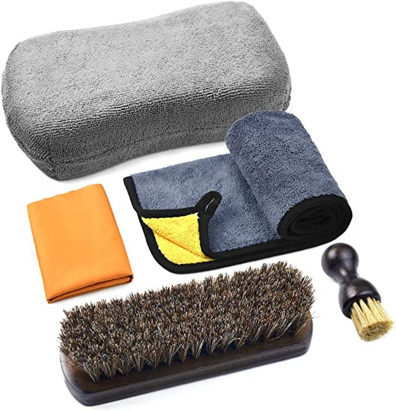 Leather Cleaning and Care Tool Kit - 5 Pcs Set