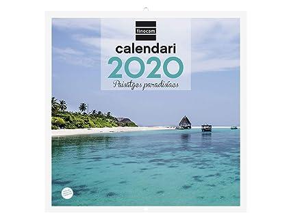 Calendario de pared 2020 Im/ágenes 30x30 Maravillas del Mundo espa/ñol Finocam