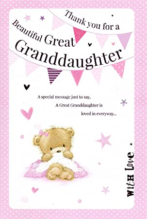 Thank you for a beautiful great granddaughter greeting card birth thank you for a beautiful great granddaughter greeting card birth of baby girl 7393 m4hsunfo