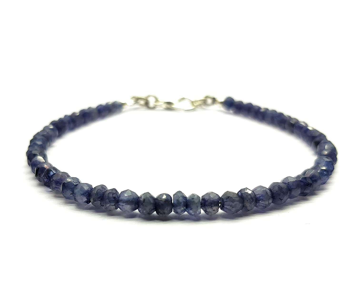 LOVEKUSH Beautiful AAA++ Iolite Bracelet 3.5 mm Rondelle & Faceted, 7 Inch Long. Healing Gemstone, Unique-Gift-for-Wife, Holidays, Energy, Chakra BR19 LOVEKUSH IMPEX