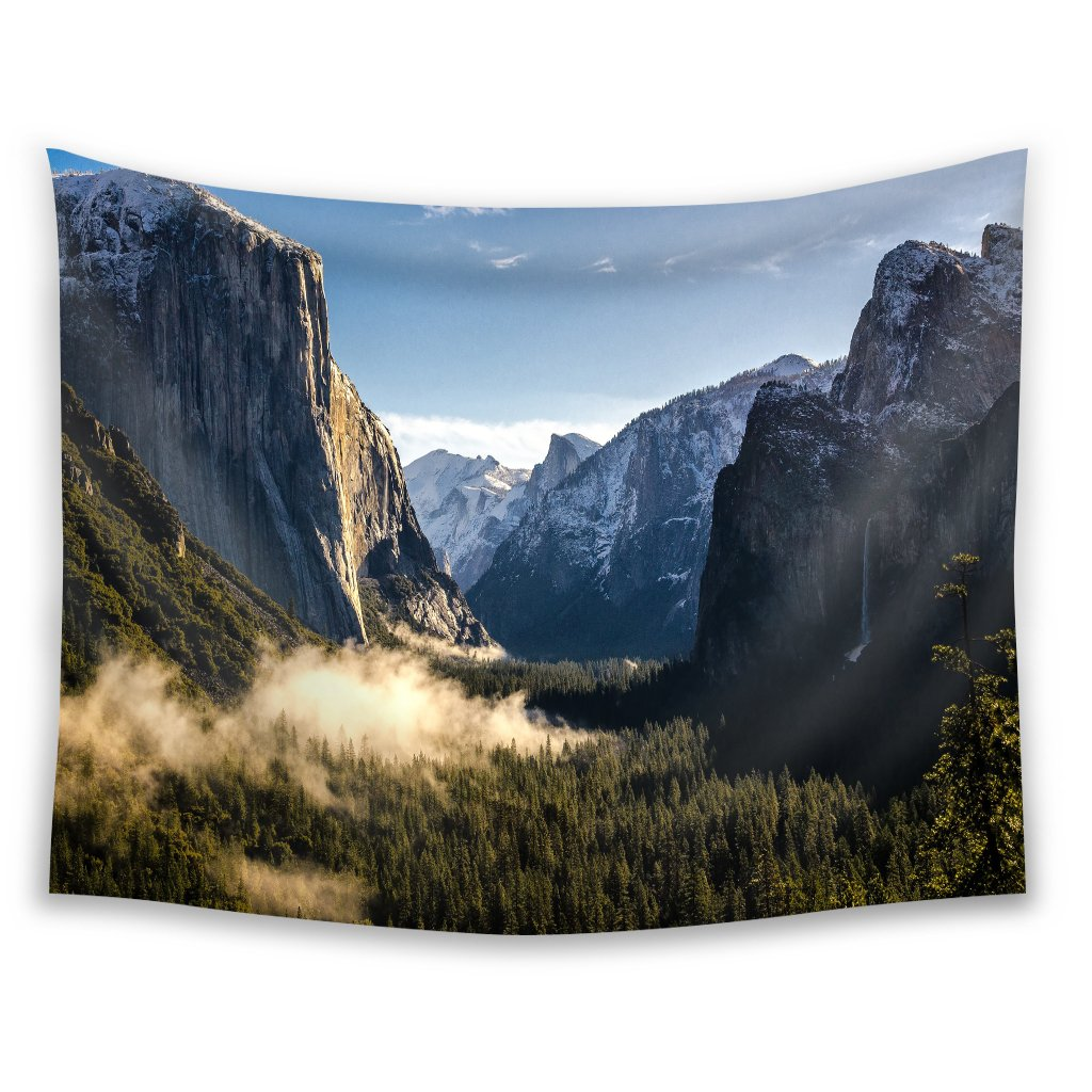 Wall Art Decor Tapestries mountains of yosemite national park Dorm Wall Hanging Nature Tapestry 60x80 Inch