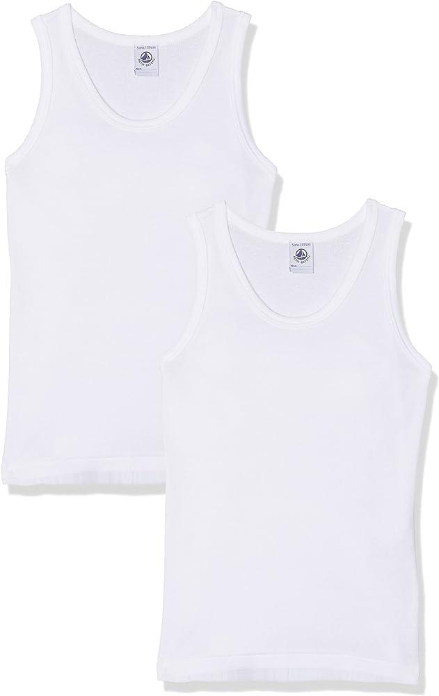 Petit Bateau 36797, Camiseta de Tirantes Para Niños, Blanco (Special Lot 000), 5ans, Pack de 2: Amazon.es: Ropa y accesorios