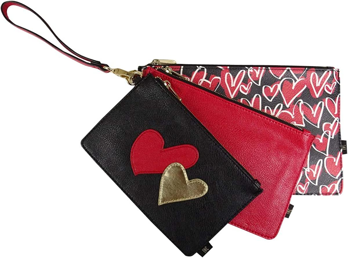 Inc International Concepts Red Multi Set Of Pouches OS