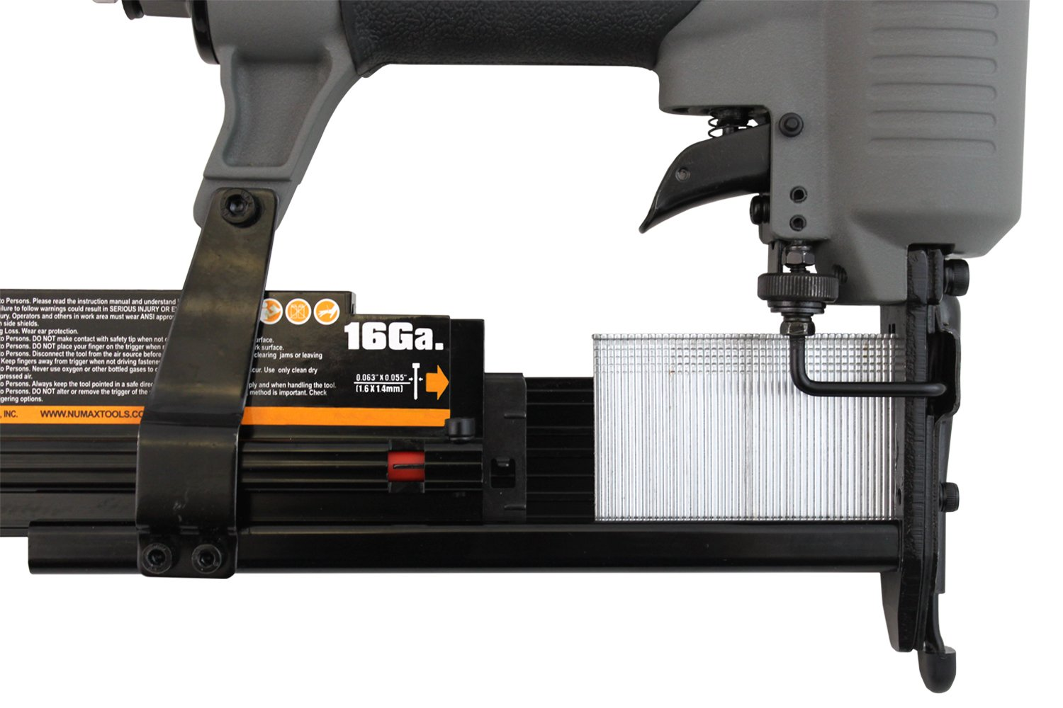NuMax SL31 18 & 16 Gauge Pneumatic 3-in-1 Nailer & Stapler, Gray & Black by NuMax (Image #4)