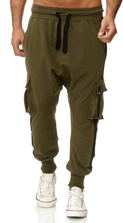 Tazzio 19618 Pantaloni cargo da uomo in stile Harem